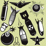 Bomb Collection. A clip art collection of various bomb icons and art Stock Images