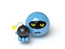 Bomb collection - push here Stock Image