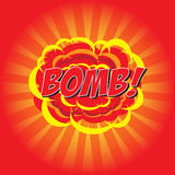 BOMB! comic word Stock Images