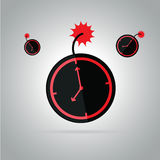 Bomb deadline work time. Royalty Free Stock Photo