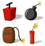 Bomb with detonator Stock Photo