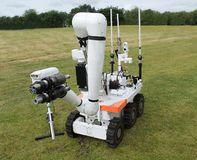 Bomb Disposal. A Large Military Bomb Disposal Remote Control Robot Stock Images