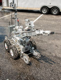 Bomb disposal robot. Complete with microphone, gripper arm and Infrared , normal vision camera Stock Photos