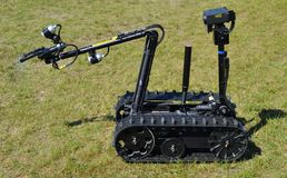 Bomb Disposal Robot. Foster-Miller TALON 4 Bomb Disposal Robot. This robot is used by U.S. Army Special Forces teams for remote-controlled explosive ordnance Stock Photos