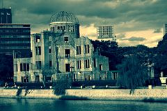A-bomb dome, Hiroshima. A-bomb dome in Hiroshima Japan Stock Image