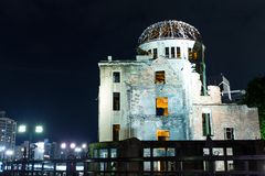 Bomb Dome in Hiroshima. Beautiful sightseeing scenery landscape Royalty Free Stock Image