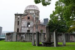 Bomb Dome in Hiroshima city Royalty Free Stock Images