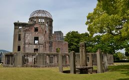 The A-Bomb Dome Hiroshima Prefectural Industrial Promotion Hall Royalty Free Stock Photo