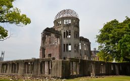 The A-Bomb Dome Hiroshima Prefectural Industrial Promotion Hall Royalty Free Stock Photos
