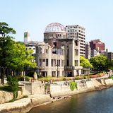 A Bomb Dome. Memorial dome at Hiroshima Peace Park Royalty Free Stock Photo