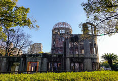 A Bomb Dome with the Peace park in Hiroshima, Japan.  Stock Image