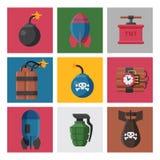 Bomb dynamite fuse vector illustration grenade attack power ball burning detonation explosion. Bomb dynamite fuse vector illustration. Grenade attack power ball Royalty Free Stock Image