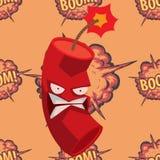 Bomb dynamite fuse vector illustration grenade attack power ball burning detonation explosion fire military destruction. Design aggression. Bomb grenade burning Stock Images