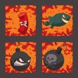 Bomb dynamite fuse vector illustration grenade attack power ball burning detonation explosion fire military destruction. Design aggression. Bomb grenade burning Stock Photo