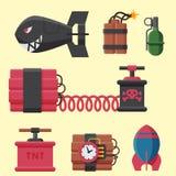 Bomb dynamite fuse vector illustration grenade attack power ball burning detonation explosion. Bomb dynamite fuse vector illustration. Grenade attack power ball Royalty Free Stock Photo
