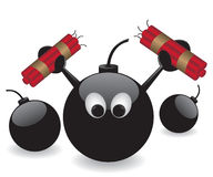 Bomb and dynamite illustration Stock Photos