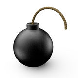 Bomb. Dynamite on white background 3D rendering Stock Images