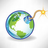Bomb earth globe concept Royalty Free Stock Photos