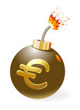 Bomb with euro-symbol. Stock Photography