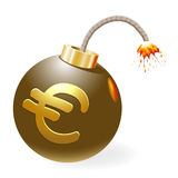 Bomb with euro-symbol. Royalty Free Stock Image