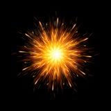 Bomb explosion background vector illustration