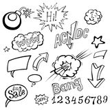Bomb explosion comic style templates. Vector illustration Royalty Free Stock Photo