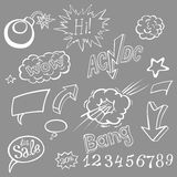 Bomb explosion comic style templates. Vector illustration Stock Photos