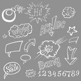 Bomb explosion comic style templates. Vector illustration Stock Photos