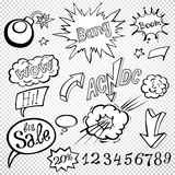 Bomb explosion comic style templates. Vector illustration Royalty Free Stock Images