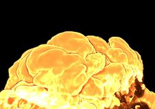 Bomb Explosion - 3D rendering. Bomb Explosion on black background - 3D rendering Stock Image