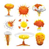 Bomb explosion effect vector Stock Photo