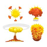 Bomb explosion effect vector Stock Images