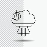 Bomb, explosion, nuclear, special, war Line Icon on Transparent Background. Black Icon Vector Illustration vector illustration