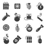 Bomb and explosives icons Royalty Free Stock Photography