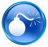 Bomb icon blue Royalty Free Stock Photos