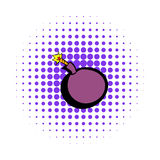 Bomb icon, comics style. Bomb icon in comics style on a white background Stock Images