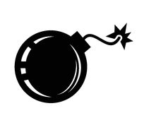 Bomb icon. This is file of EPS10 format Royalty Free Stock Photo