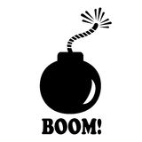 Bomb icon. Isolated on white Stock Photography