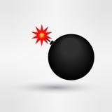 Bomb icon. Logo eps 10 vector illustration Stock Images