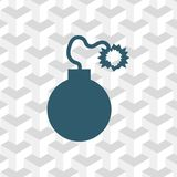 Bomb icon stock vector illustration flat design. Icon stock vector illustration flat design style Royalty Free Stock Photography