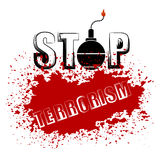 Bomb Icon. Stop Terrorism Banner. Stock Images