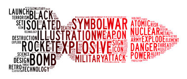 Bomb icon text clouds Stock Photos