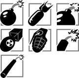 Bomb Icons Stock Image
