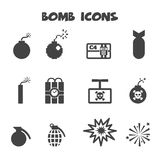 Bomb icons Stock Photos