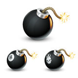 Bomb. Illustration  on a white background Royalty Free Stock Photo