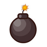 Bomb isolated illustration Stock Images