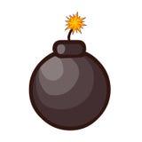 Bomb isolated illustration. On white background Stock Images