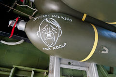 Bomb with Special delivery for Adolf Stock Photos