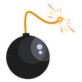 Bomb with lit wick Royalty Free Stock Images