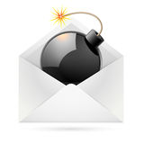 Bomb mail Stock Image